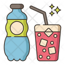 Fizzy Water Ice Water Chill Water Icon