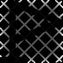 Flag Point Waving Icon