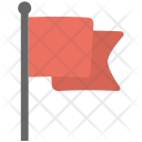 Flag Fluttering Pole Icon