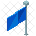 Flag Street Sign Icon