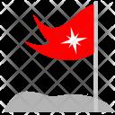 Mountain Flag Red Icon