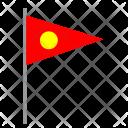 Sun Pointer Flag Icon