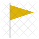 Triangle Flag Yellow Icon