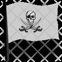 Skull Swords Pirate Icon