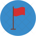 Flag Flagpole Table Icon
