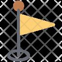 Flag Golf Destination Icon