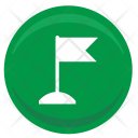 Flag Point Position Icon