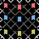 Flag Chain Newyears Icon