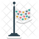 Flag Heart Love Theme Icon