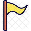 Pennant Flag Camping Icon