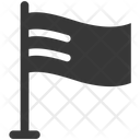 Flag Location Map Icon