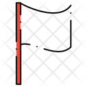 Flag Waving Sports Icon