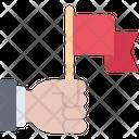 Flag Voter Hand Icon