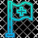Medical Flag Health Care Hospital Icon