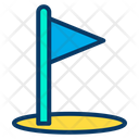 Golf Flag Golf Outdoor Game Icon