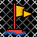 Flag Sea Deep Icon