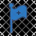 Flag Hospital Medical Icon