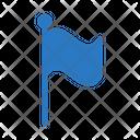 Flag Waving Sign Icon