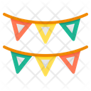 Flag Baunting Party Icon