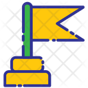 Business Investation Flag Success Icon
