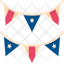 Flag Decoration Usa Icon