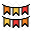 Flag Decoration Party Icon