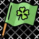 Flag Clover Shamrock Icon