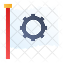 Flag Labor Gear Icon
