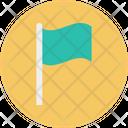 Flag Goal Achieve Icon