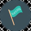 Flag Success Achieve Icon