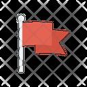 Flag Waving Goal Icon