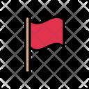 Flag Waving Success Icon