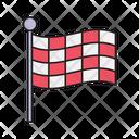 Flag Waving Race Icon