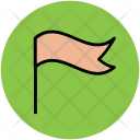 Flag Location Fluttering Icon
