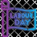 Flag Labor Day Labour Icon