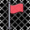 Flag Waving Mark Icon