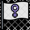 Flag Female Gender Icon
