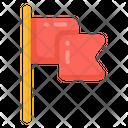 Flag Flagpole Streamer Icon