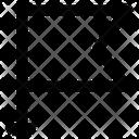 Flag Flagpole Streaming Flag Icon