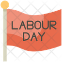 Flag March Labour Day Icon