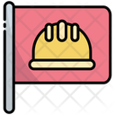 Flag Hard Hat Labor Icon