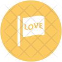 Flag Love Word Icon