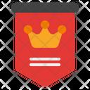 Flag Celebration Crown Icon