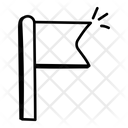 Flagpole Pennant Flaglet Icon