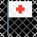 Flag Hospital Cross Icon