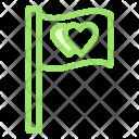 Flag Love Wedding Icon