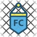 Flag Soccer Goal Icon