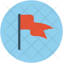 Flag Fluttering Location Icon