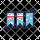 Banner Flag Australia Icon