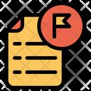 Flag Document Icon